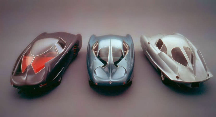 Alfa Romeo BATcars From left BAT 5 BAT 7 BAT 9