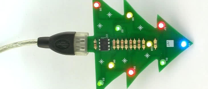 Choinka LED z USB
