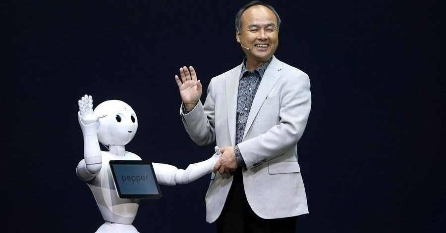 Masayoshi Son i robot Pepper